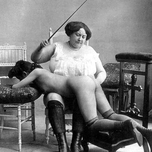 Erotic old time spanking